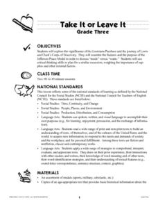 Take It Or Leave It Lesson Plan