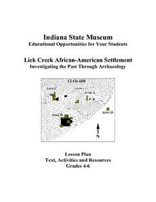 Lick Creek African-American Settlement Lesson Plan