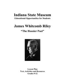 Poet James Whitcomb Riley: Famous in His Own Day Lesson Plan