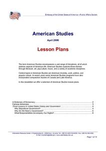 American Studies Lesson Plan