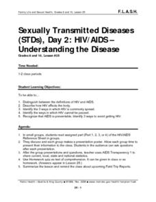 Sexually Transmitted Diseases, Day 2: HIV/AIDS - Understanding the Disease Lesson Plan