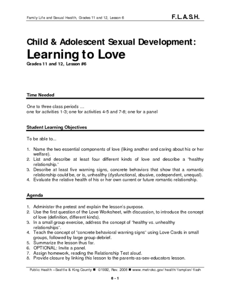 Learning to Love Lesson Plan
