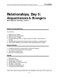 Acquaintances & Strangers Lesson Plan