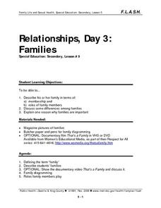 Relationships, Day 3: Families Lesson Plan