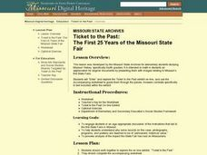 Ticket to the Past: The First 25 Years of the Missouri State Fair Lesson Plan