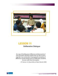 Deliberative Dialogue Lesson Plan