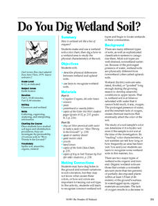 Do You Dig Wetland Soil? Lesson Plan