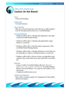 Coral Reef Lesson Plan Caution: Do Not Bleach! Lesson Plan