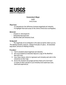 Isoseismal Maps Lesson Plan