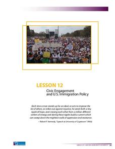 Civic Engagement and U.S. Immigration Policy Lesson Plan