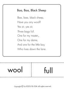 Baa, Baa, Black Sheep Lesson Plan