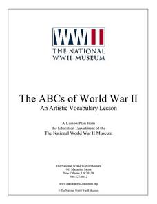 The ABCs of World War II:  An Artistic Vocabulary Lesson Lesson Plan