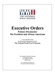 Primary Documents:  The President and African Americans Lesson Plan