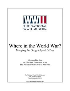 Where in the World War?  Mapping the Geography of D-Day Lesson Plan