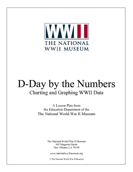 D-Day by the Numbers:  Charting and Graphing WWII Data Lesson Plan