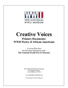 Primary Documents: WWII Poetry of African Americans Lesson Plan
