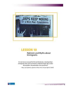 Nativism and Myths about Immigrants Lesson Plan