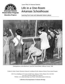 Life in a One-Room Arkansas Schoolhouse Lesson Plan