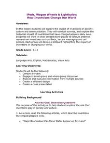 iPods, Wagon Wheels and Lightbulbs: How Inventions Change Our World Lesson Plan