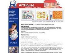Marble Action Paintings Lesson Plan