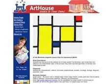 Piet Mondrian Inspiration Lesson Plan