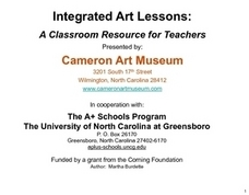 Integrated Art Lessons: Lesson Three Lesson Plan