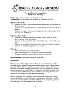 Paterfamilias Role-Play Lesson Plan