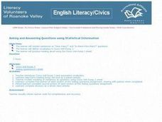 Asking and Answering Questions Using Statistical Information Lesson Plan