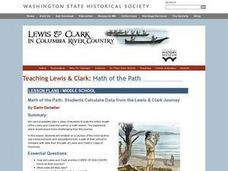 Math of the Path: Students Calculate Data from the Lewis and Clark Journey Lesson Plan