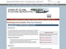 Teaching Lewis and Clark:  Why Fort Clatsop? Lesson Plan