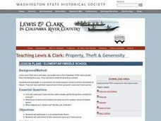 Lewis and Clark: Property, Theft and Generosity Lesson Plan