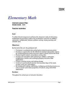 Elementary Math Lesson Plan