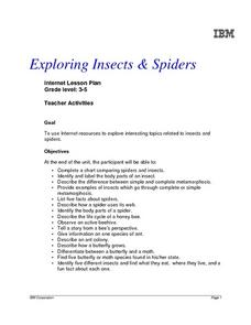 Exploring Insects & Spiders, Grades 3-5 Lesson Plan