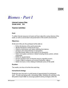 Biomes -- Part 1 Lesson Plan