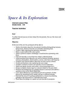 Space and Exploration Lesson Plan