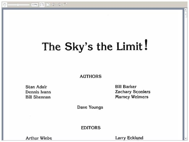 The Sky's the Limit Lesson Plan