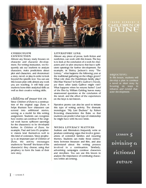 Children of Dune Lesson Plan