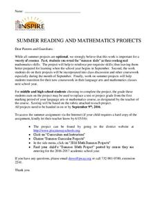 Summer Math Projects