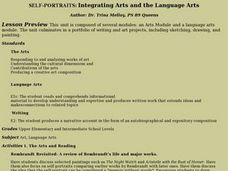 Self-portraits: Integrating Arts And the Language Arts Lesson Plan