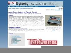 From Sunlight to Electric Current Lesson Plan