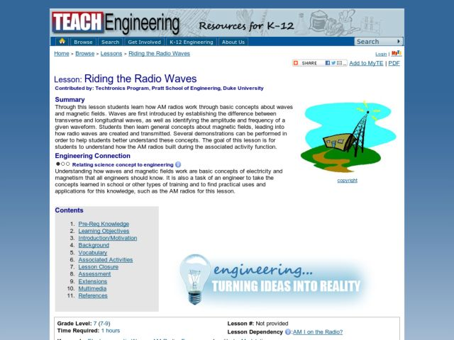Riding the Radio Waves Lesson Plan