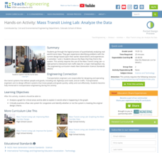 Mass Transit Living Lab: Analyze the Data Activities & Project