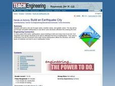 Build An Earthquake City Lesson Plan