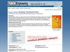 Building Tetrahedral Kites Lesson Plan