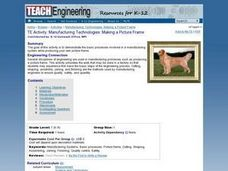 Manufacturing Technologies: Making a Picture Frame Lesson Plan