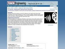 Seeing and Feeling Sound Vibrations Lesson Plan