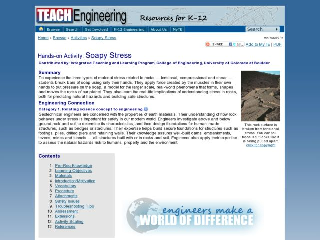 Soapy Stress Lesson Plan