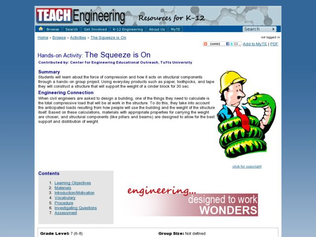 The Squeeze is On Lesson Plan