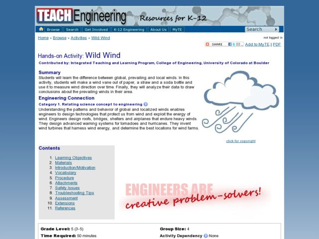 Environment: Wild Wind Direction Lesson Plan