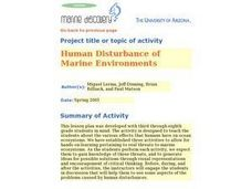 Human Disturbance of Marine Environments Lesson Plan